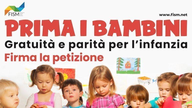 PETIZIONE: gratuità e parità per l'infanzia